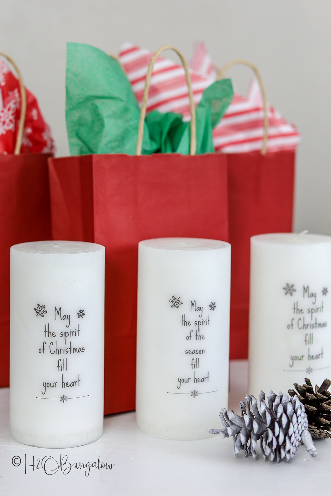 tutorial and free graphic how to add words to candles