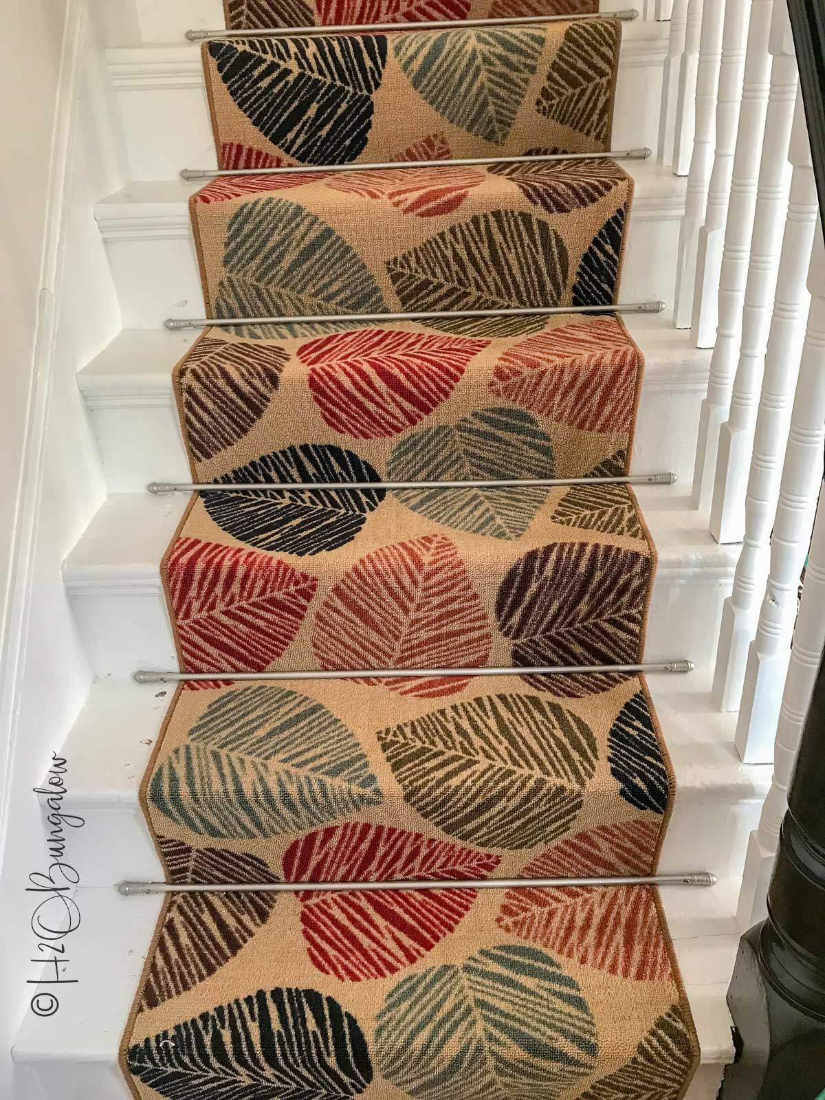How to Install Carpet Runner on Stairs - H2OBungalow