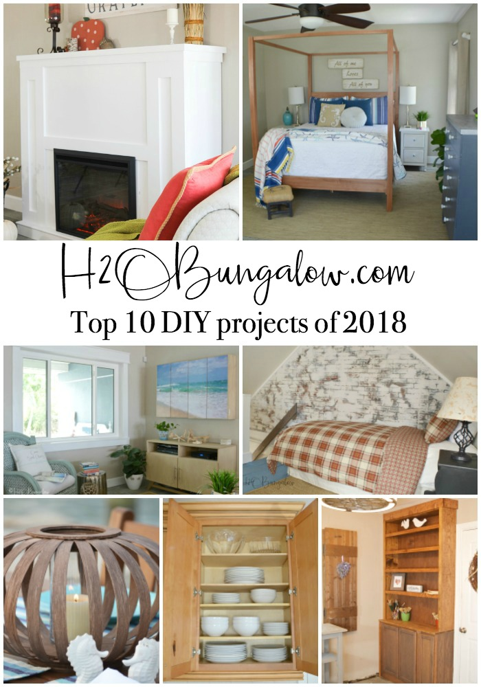 Most popular home improvement and home decor DIY projects from 2018 on H2OBungalow