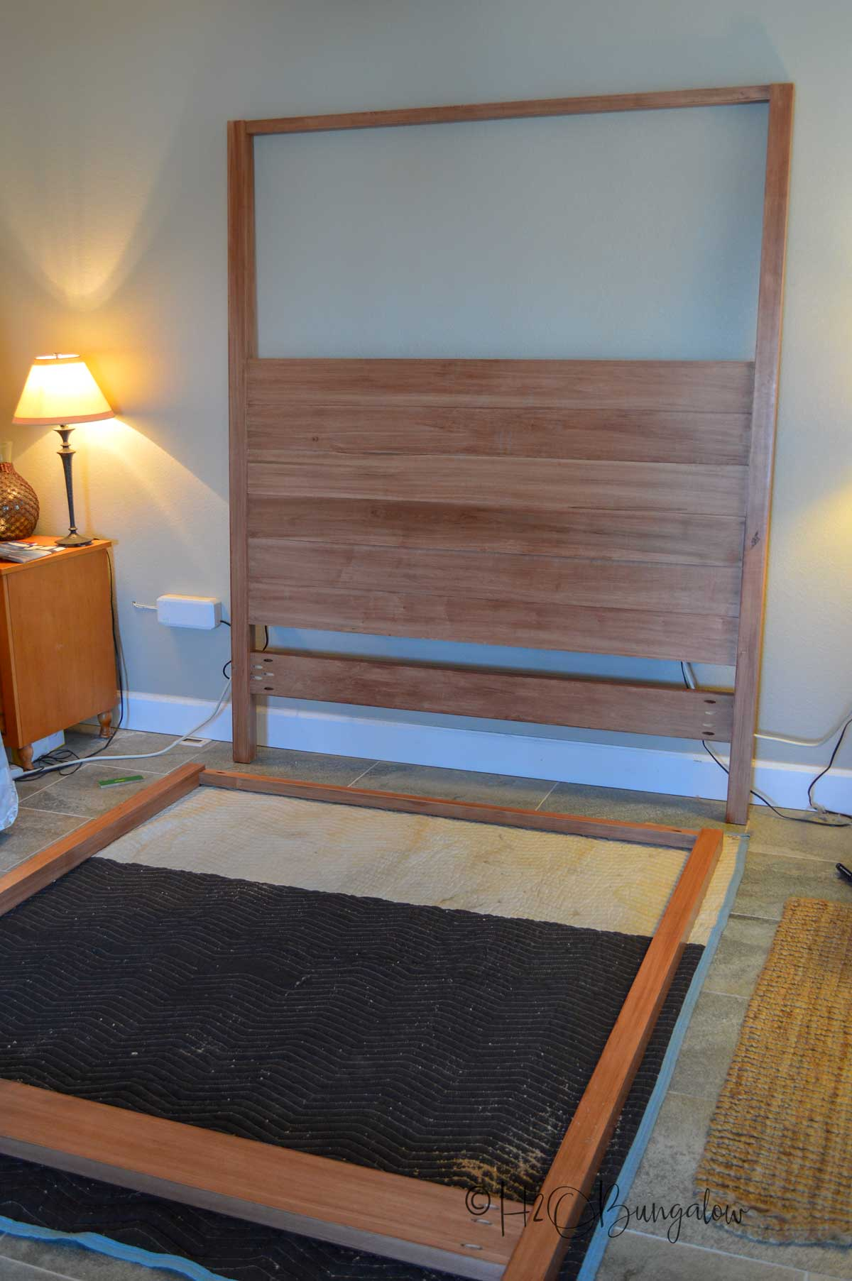 build headboard and footboard on DIY maple queen bed frame project