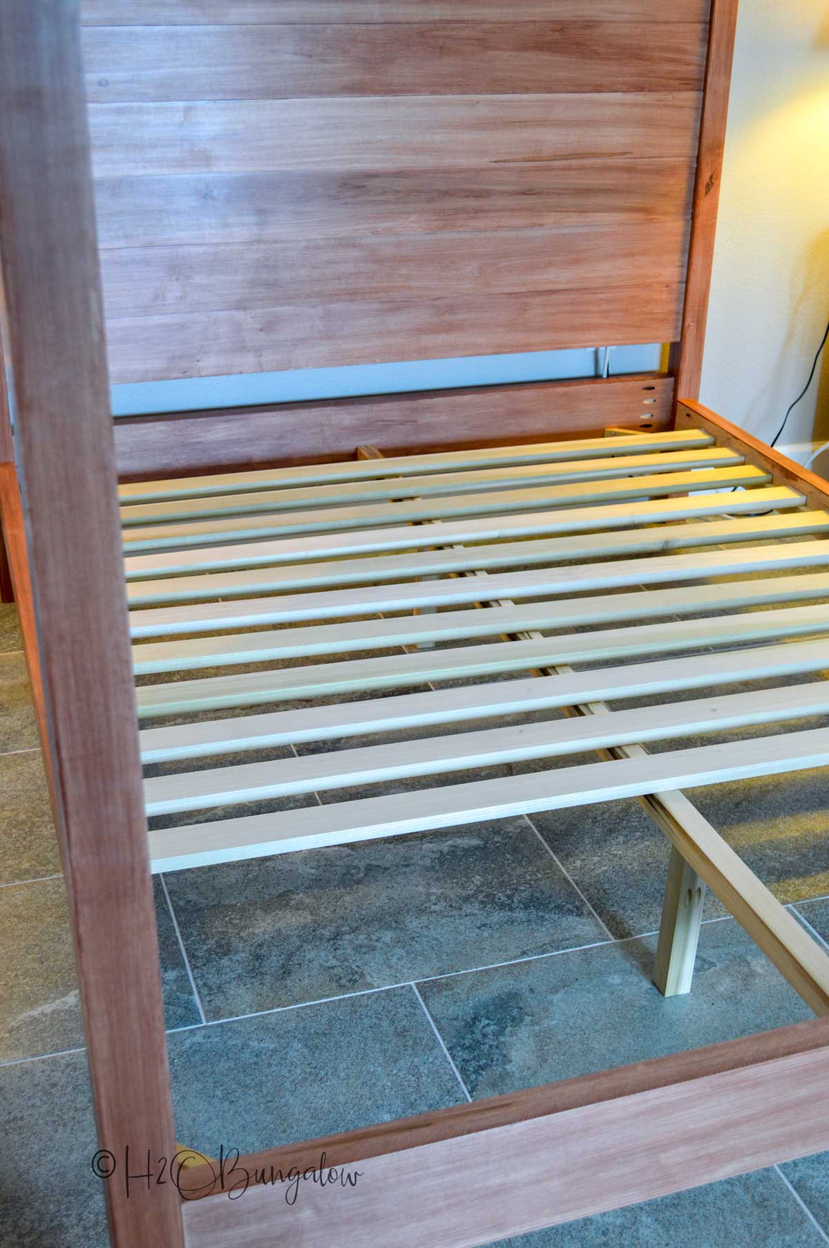 build your own DIY queen bed from these plans