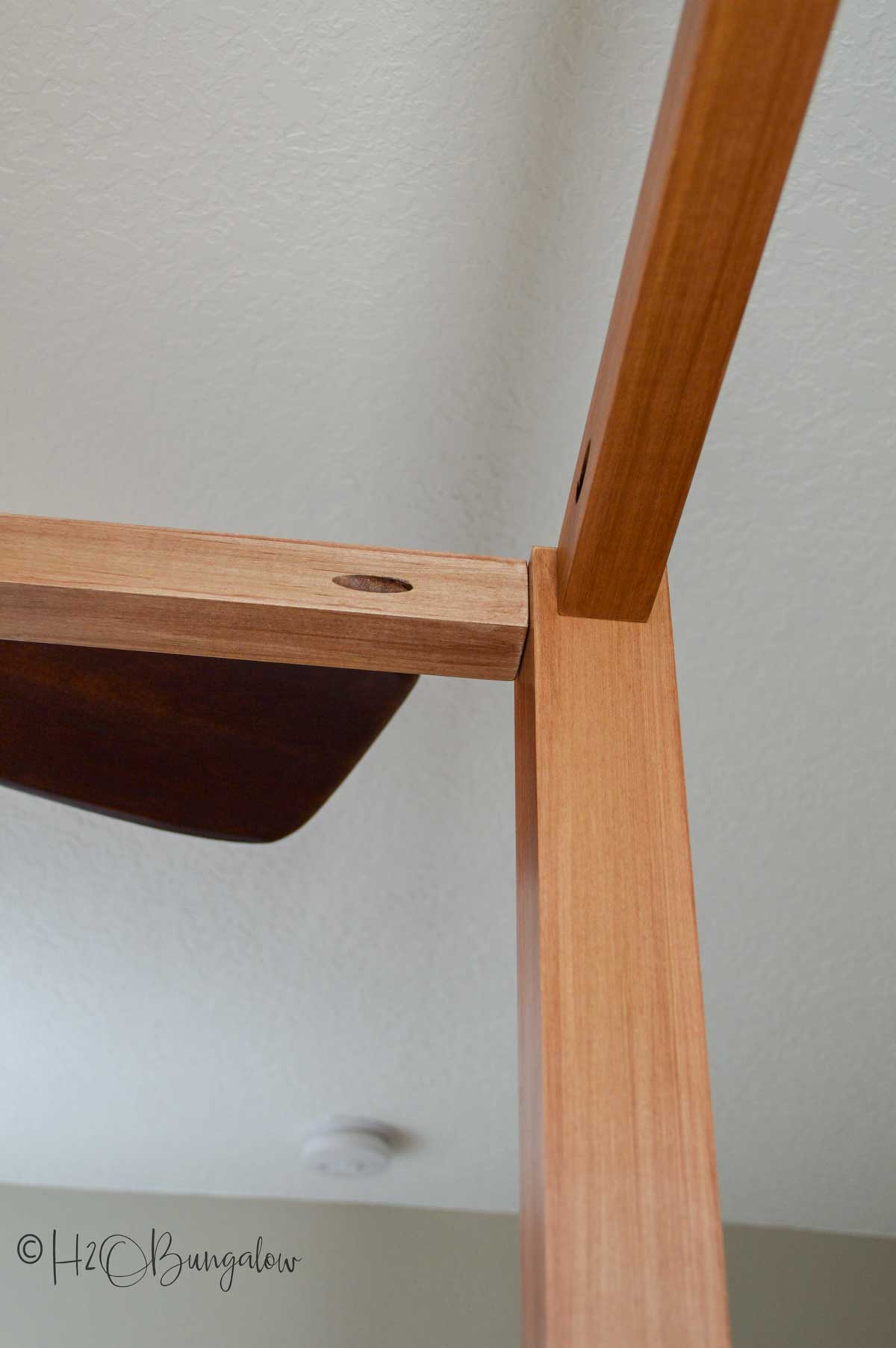 Top rails in maple on DIY queen bed frame project