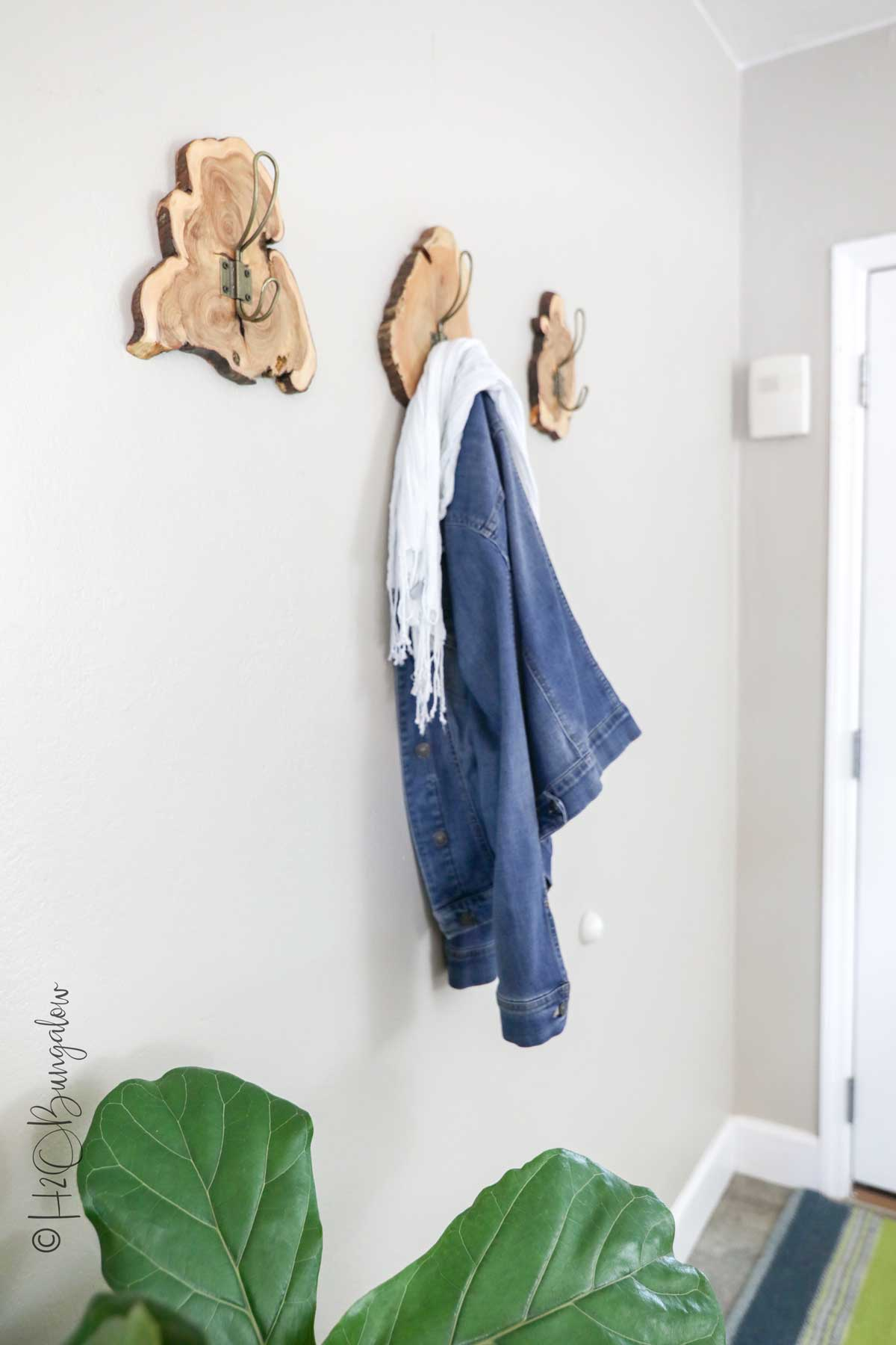 DIY tutorial for live edge wood cookie coat rack video
