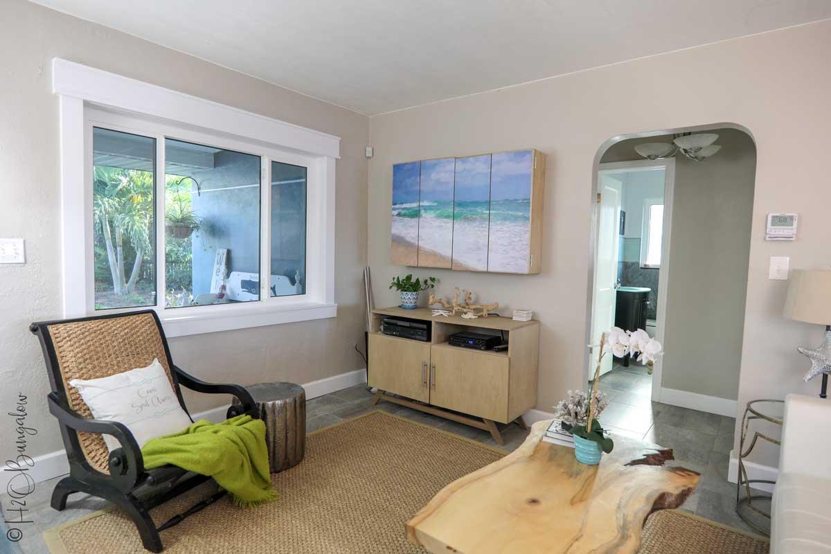 DIY live edge wood coffee table tv media cabinet