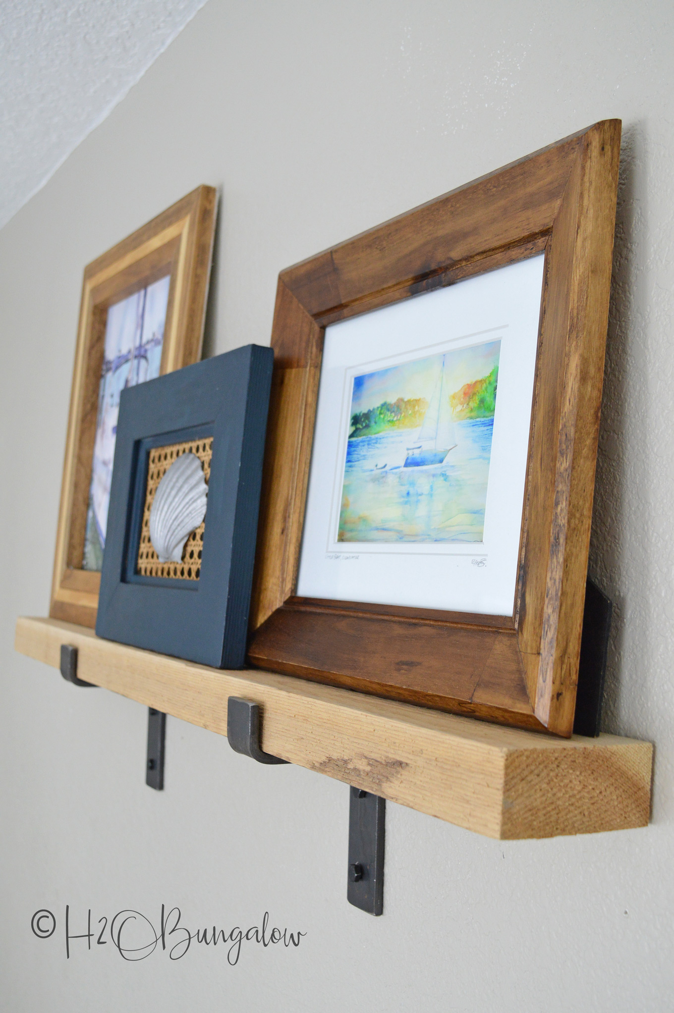 DIY picture ledge shelves and many more great home decor ideas