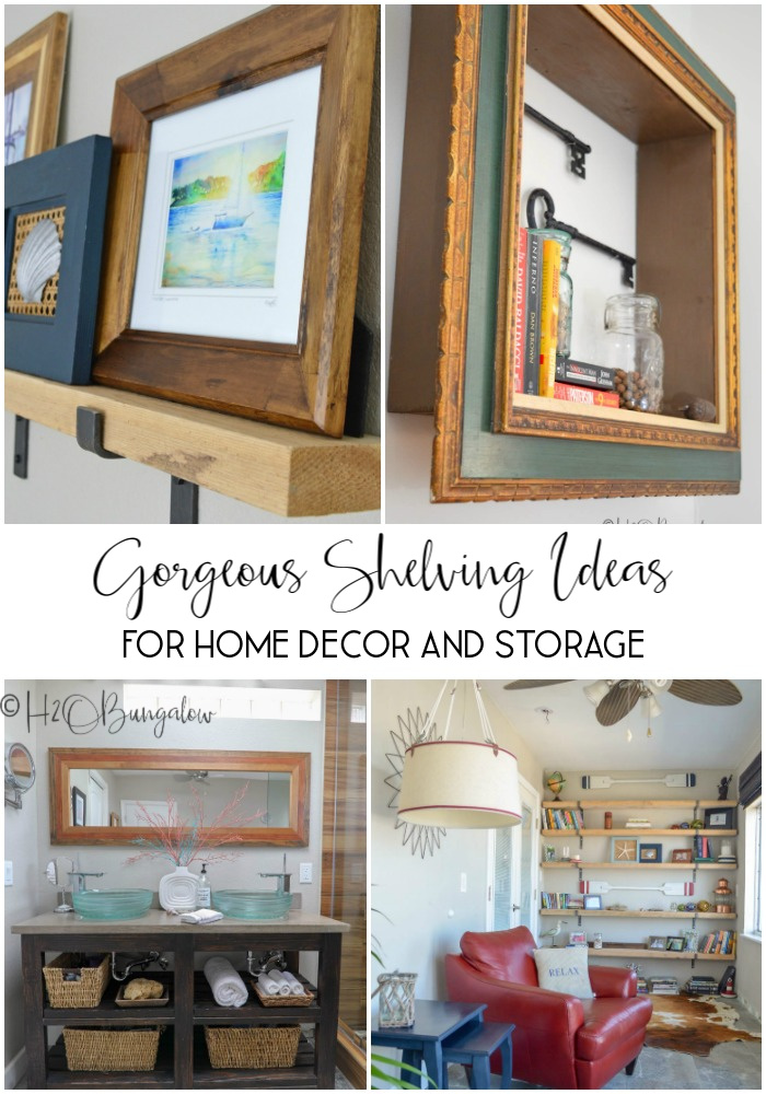 Find lots of DIY shelving ideas for home decor and storage in this post #shelvingideas