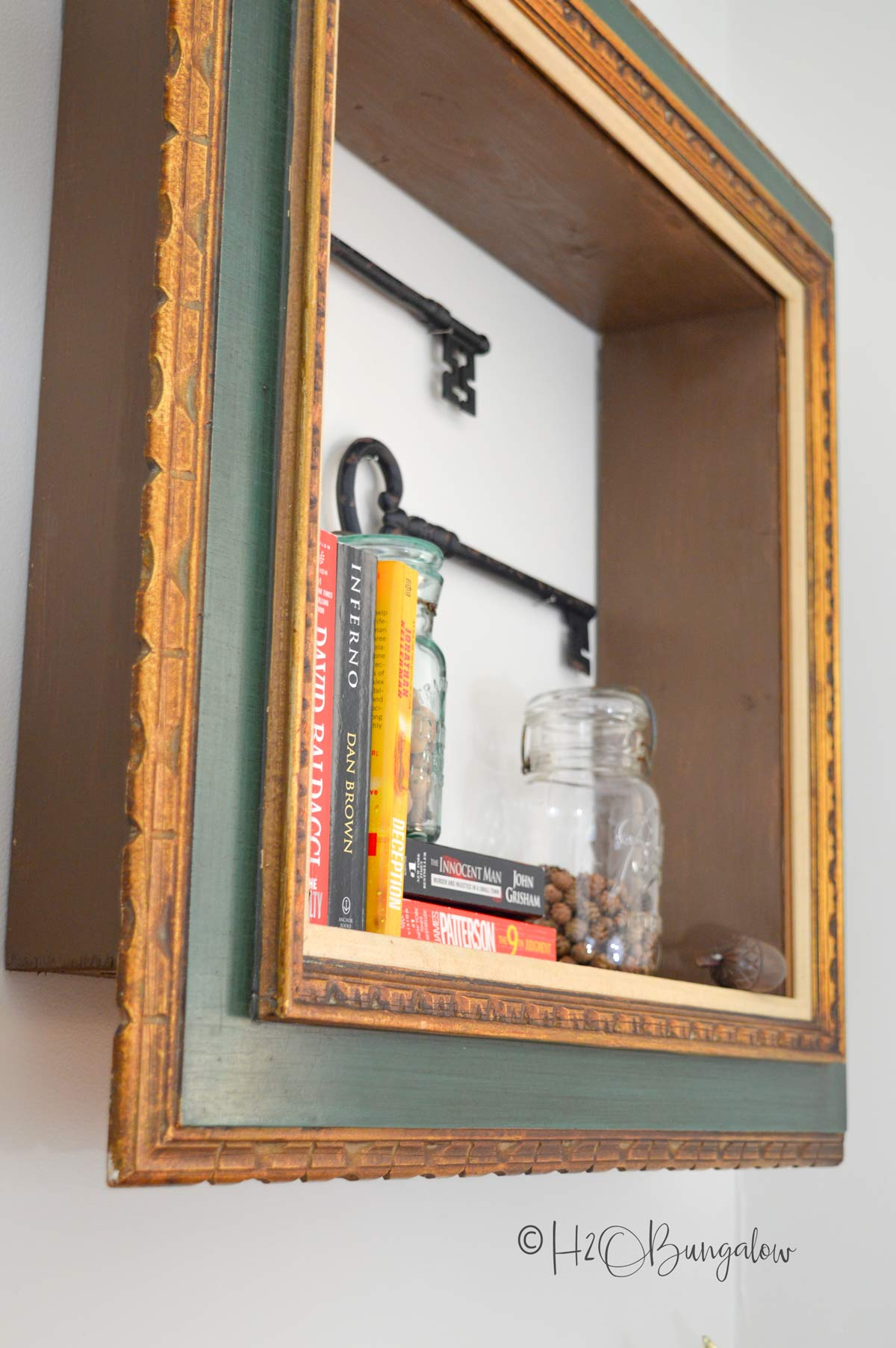 Repurposed picture frame wall shelves and lots more great shelving ideas for your home