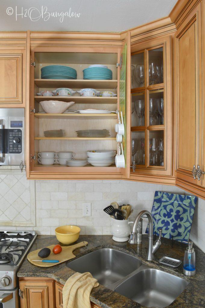 organized kitchen cabinets coastal home tour