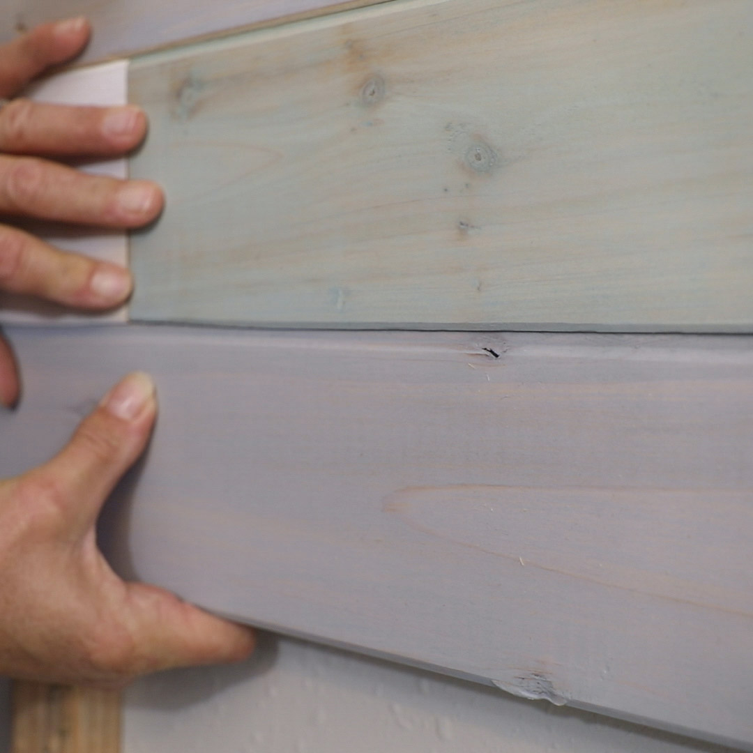 DIY multicolored wood plank wall tutorial and building tips