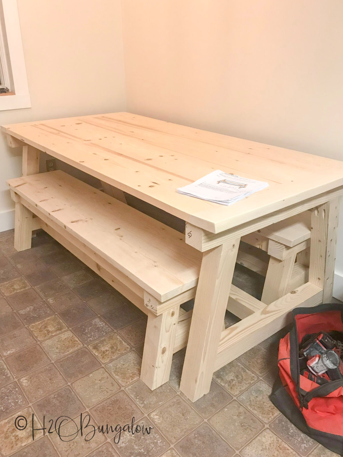 Tremendous How To Build A Diy Farmhouse Table H2Obungalow Dailytribune Chair Design For Home Dailytribuneorg
