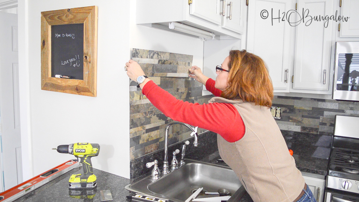 How To Install Peel and Stick Tile Backsplash - H2OBungalow
