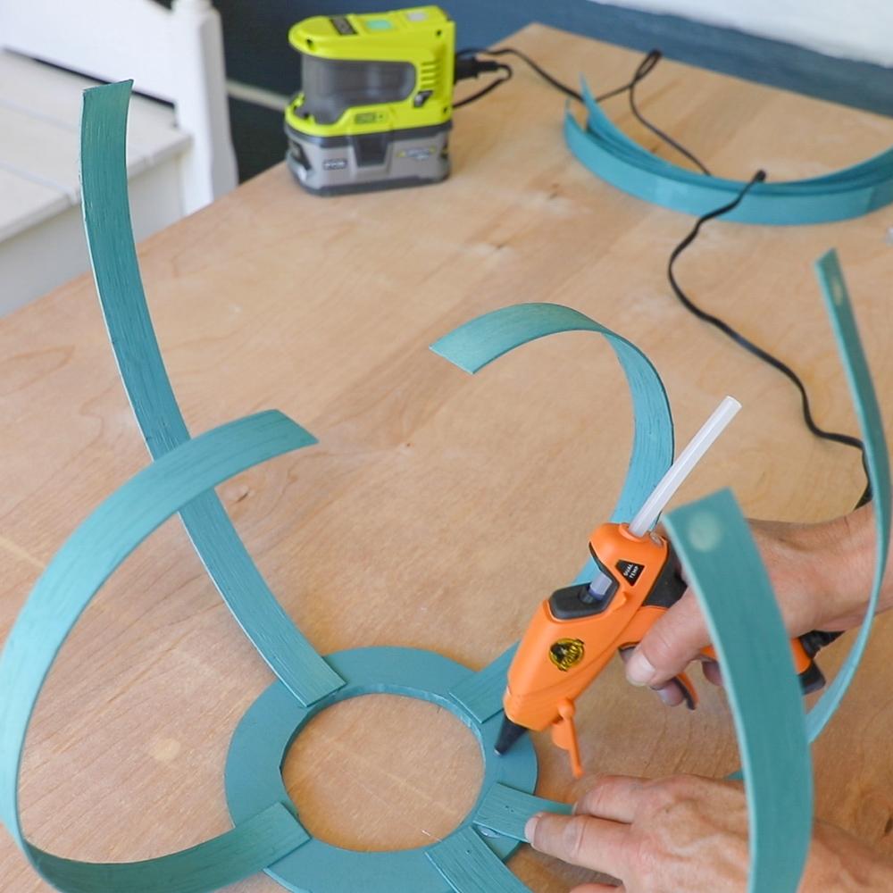 assembling the DIY solar hanging lanterns