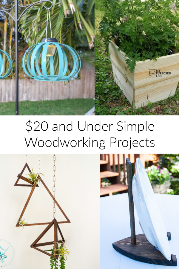 $20 DIY projects, solar lanterns, planter cover, hanging air plant holder and DIY plate holder