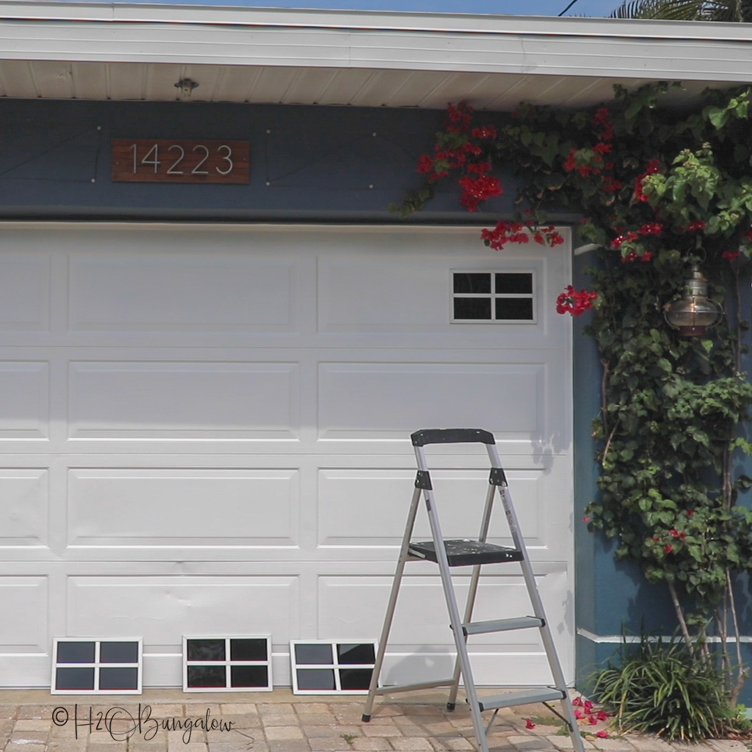 install tips on how to make faux garage door windows