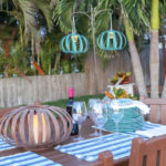 DIY hanging lanterns tutorial from solar path lights