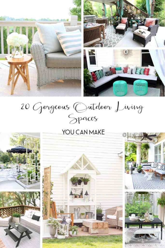 20 outdoor living areas you can copy. Find outdoor decorating and furniture inspiration you can use for your own outdoor living space.
