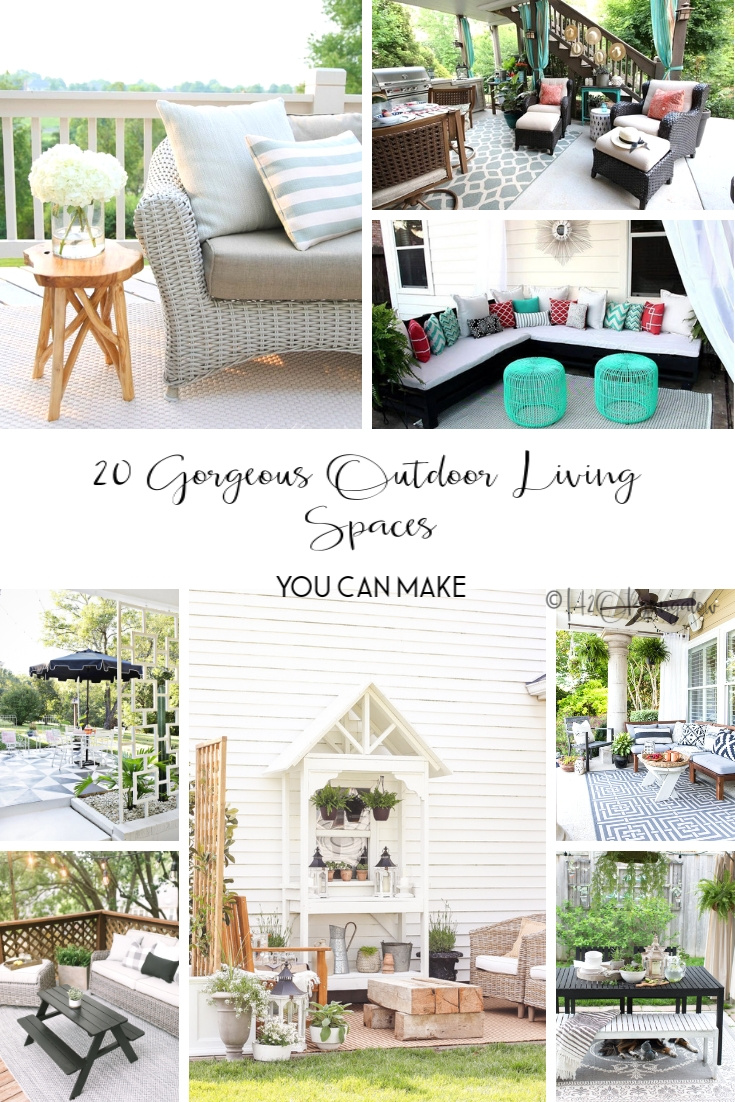 20 inspiring outdoor living area ideas you can copy.  My collection of inspiring outdoor decorating and furniture decor ideas.   via @h2obungalow