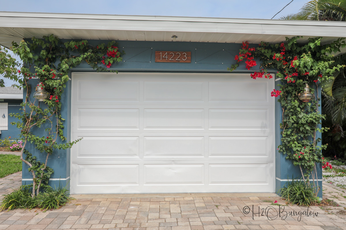 garage door before faux garage door windows