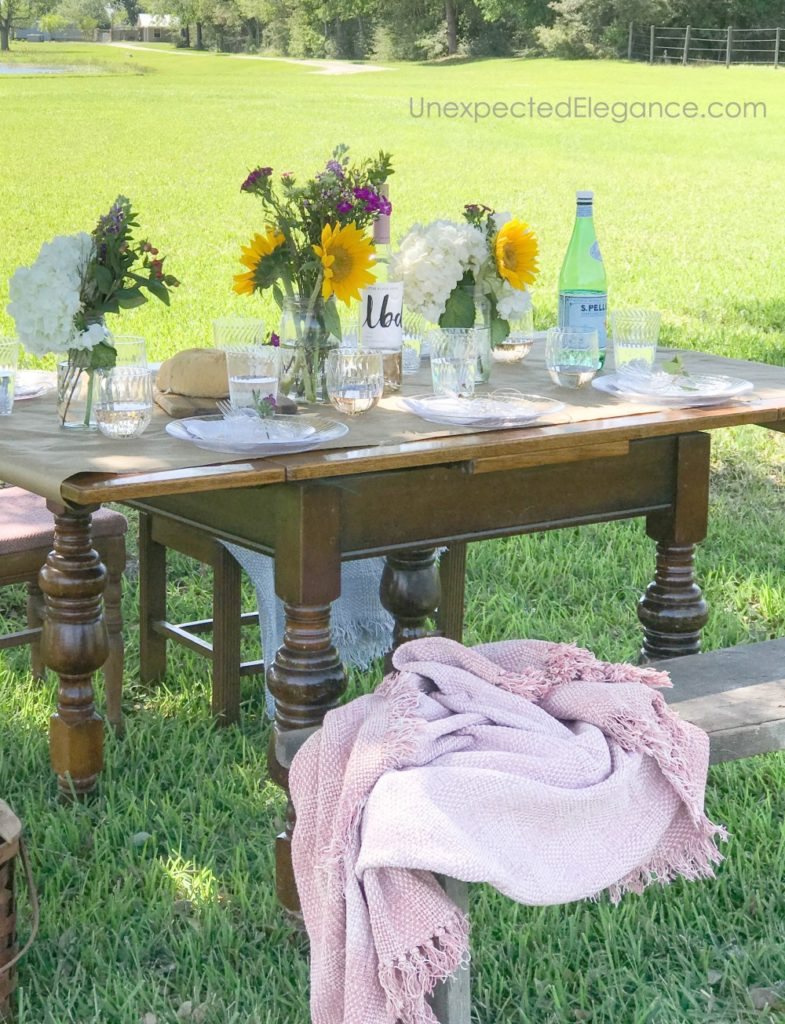 diner table in field
