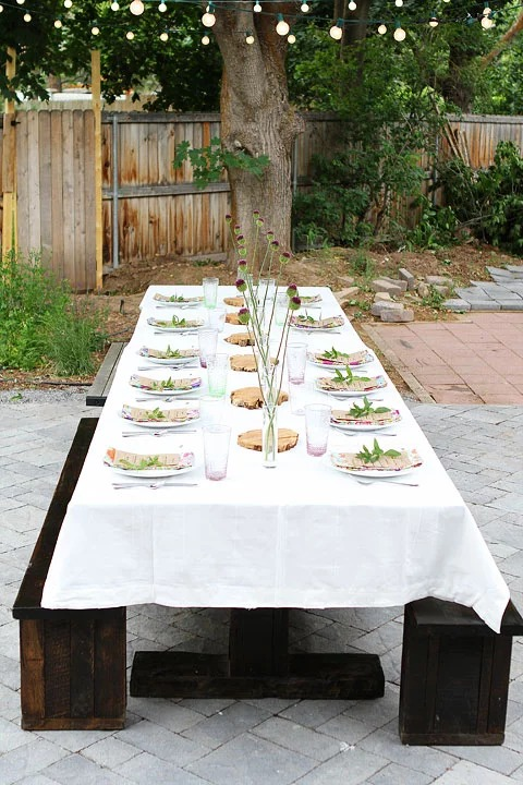 bohemian outdoor dining table