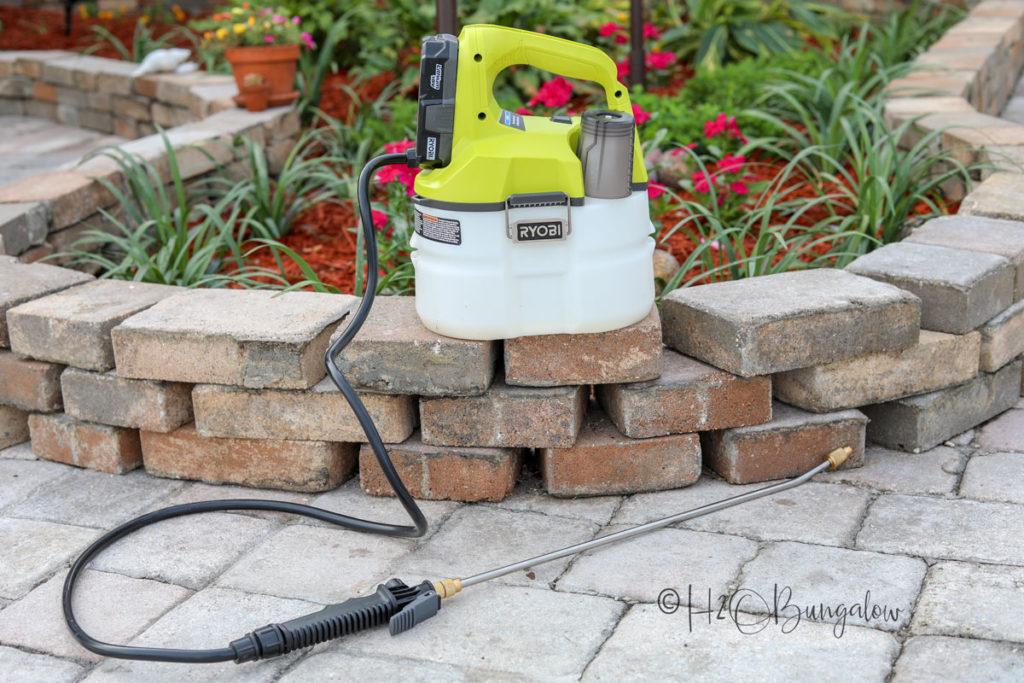 backyard makeover tools 18v sprayer