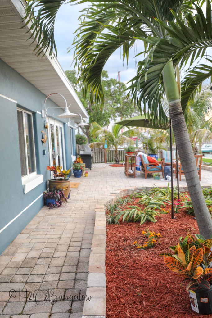 sidewalk backyard coastal home tour