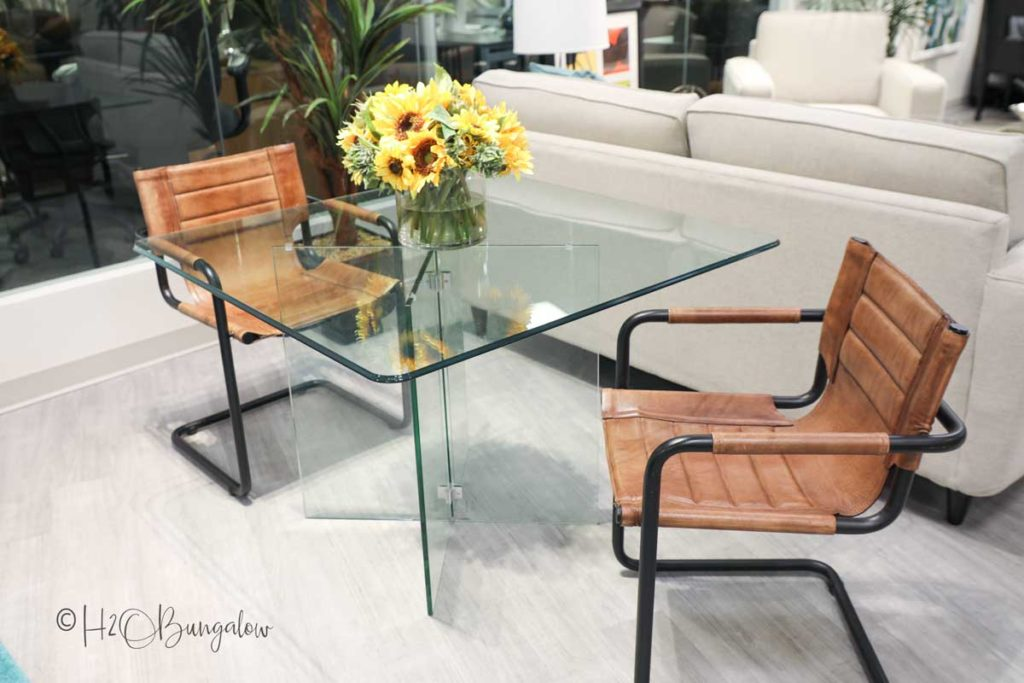 how to style a room in easy steps with a dining table behind sofa