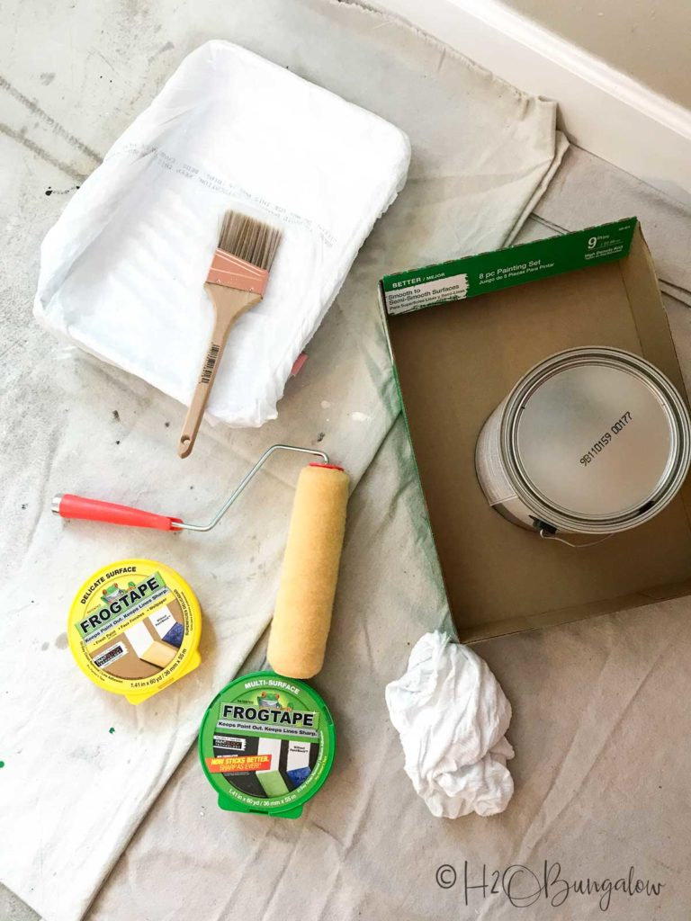 supplies needed to paint over dark paint