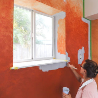 painting over dark colored paint