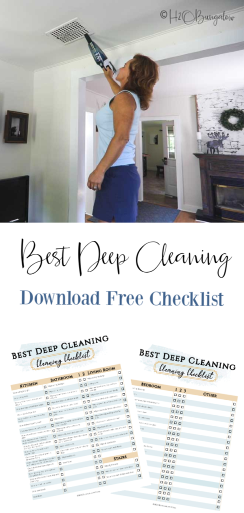 pin image Best deep cleaning checklist