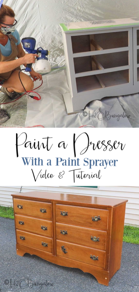 Great tutorial for beginners on how to paint a dresser in 7 steps with a video covering how to prepare furniture for painting, furniture painting tips, what you need to do a furniture makeover #furnituremakeover #paintingtips #videotutorial