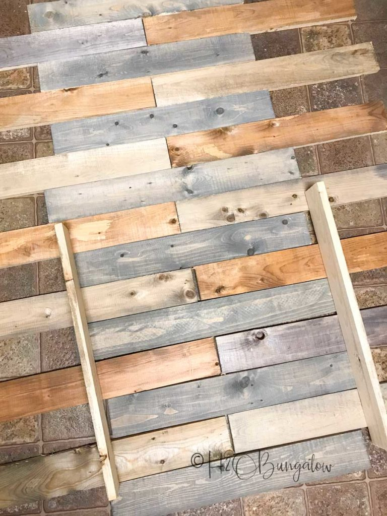 pattern with pallet wood