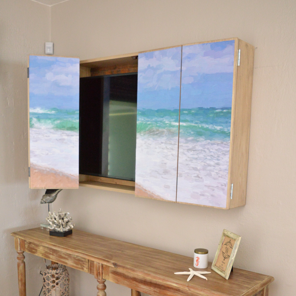 Diy Wall Mounted Tv Cabinet With Free Plans H2obungalow