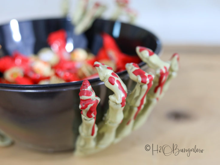 Spooky DIY Halloween Candy Bowl