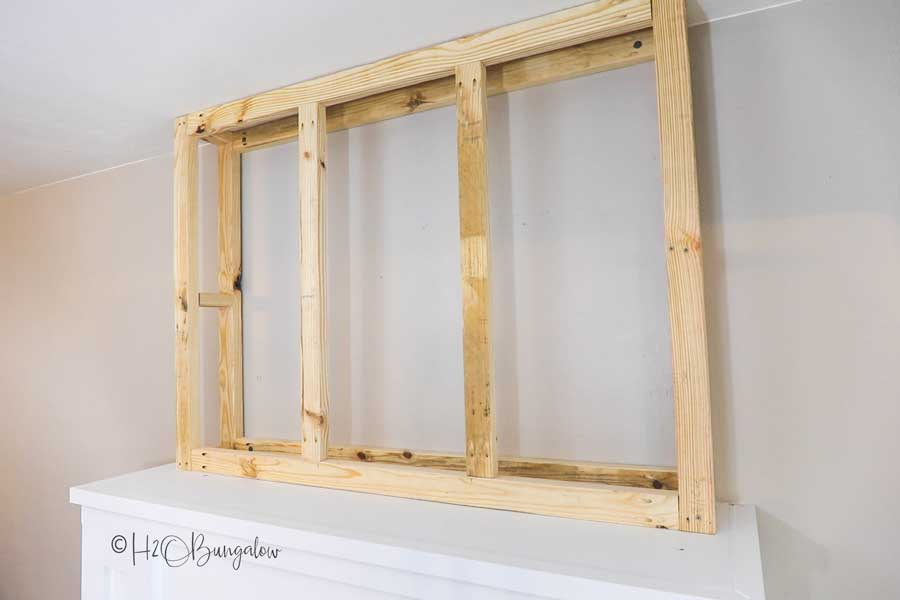 diy fireplace chimney frame