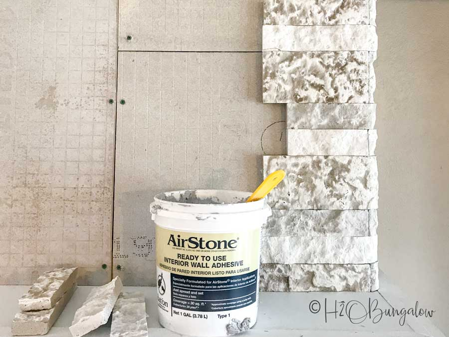 AirStone corner stones and glue