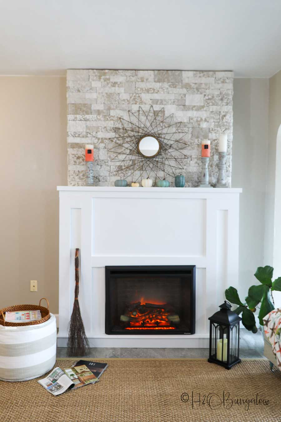 Diy Faux Stone Fireplace Chimney H2obungalow