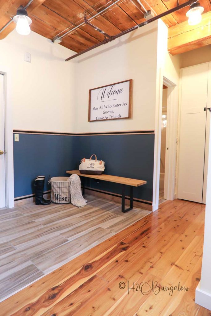 mudroom at entry