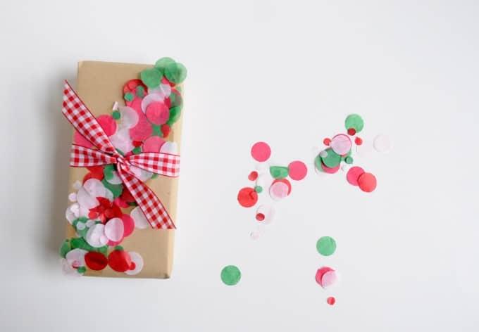 paper confetti gift wrap