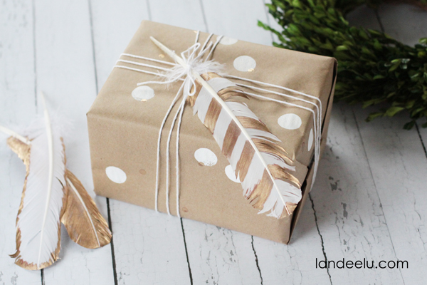white and gold DIY gift box