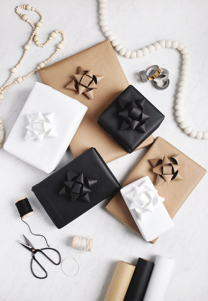 monochrome gift boxes