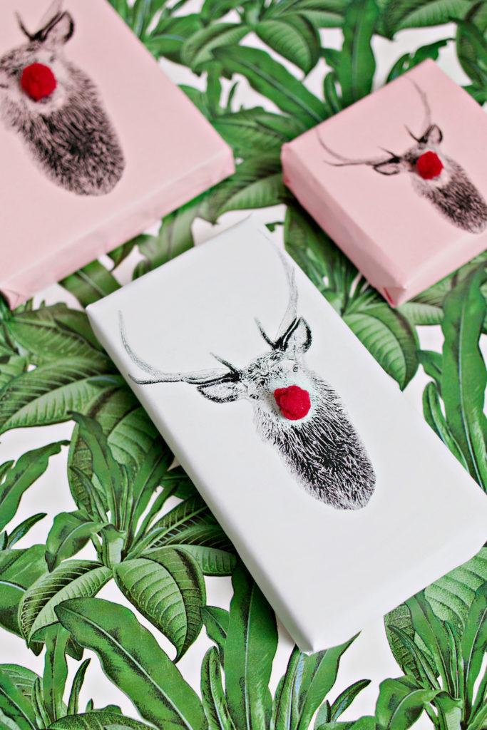 DIY reindeer gift boxes