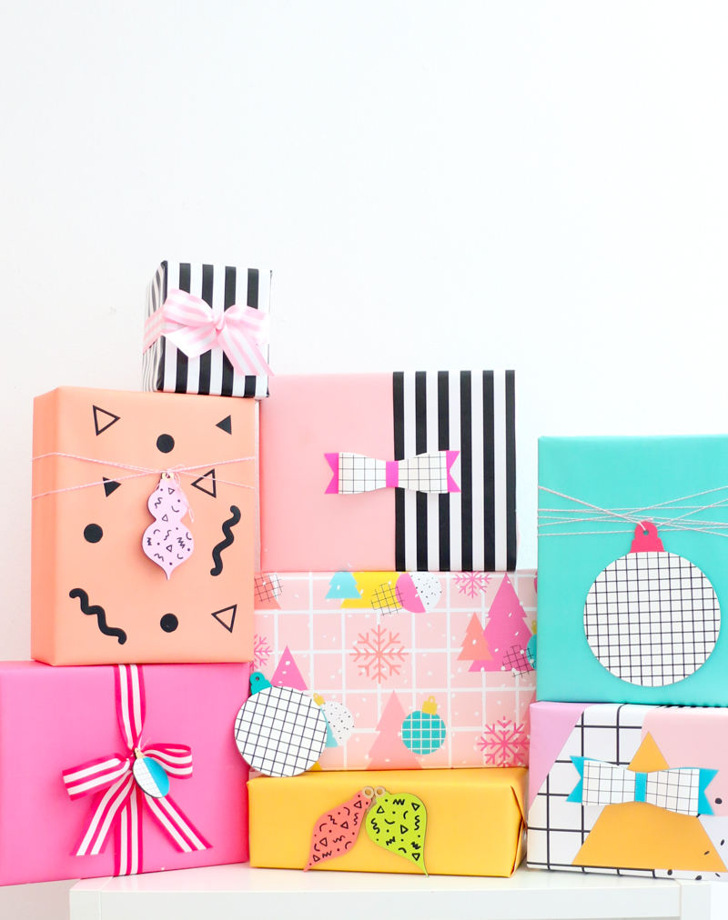colorful gift boxes DIY