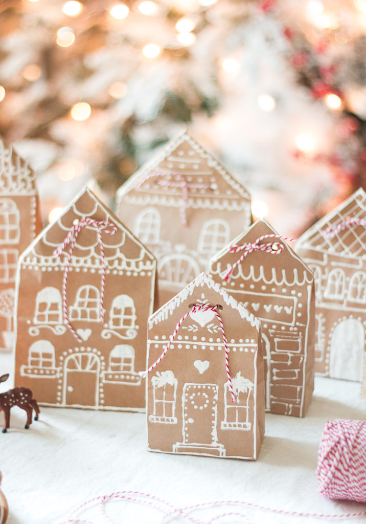 paper ginger bread house wrapping