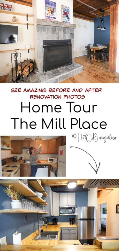 The Mill Place home tour shares all of the DIY home improvements, decor and furnishings I used to complete my third major vacation rental property renovation in ludlow, Vermont. #renovation #hometour