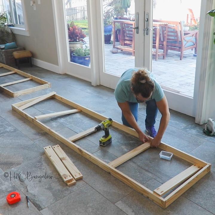 build frame folding room divider