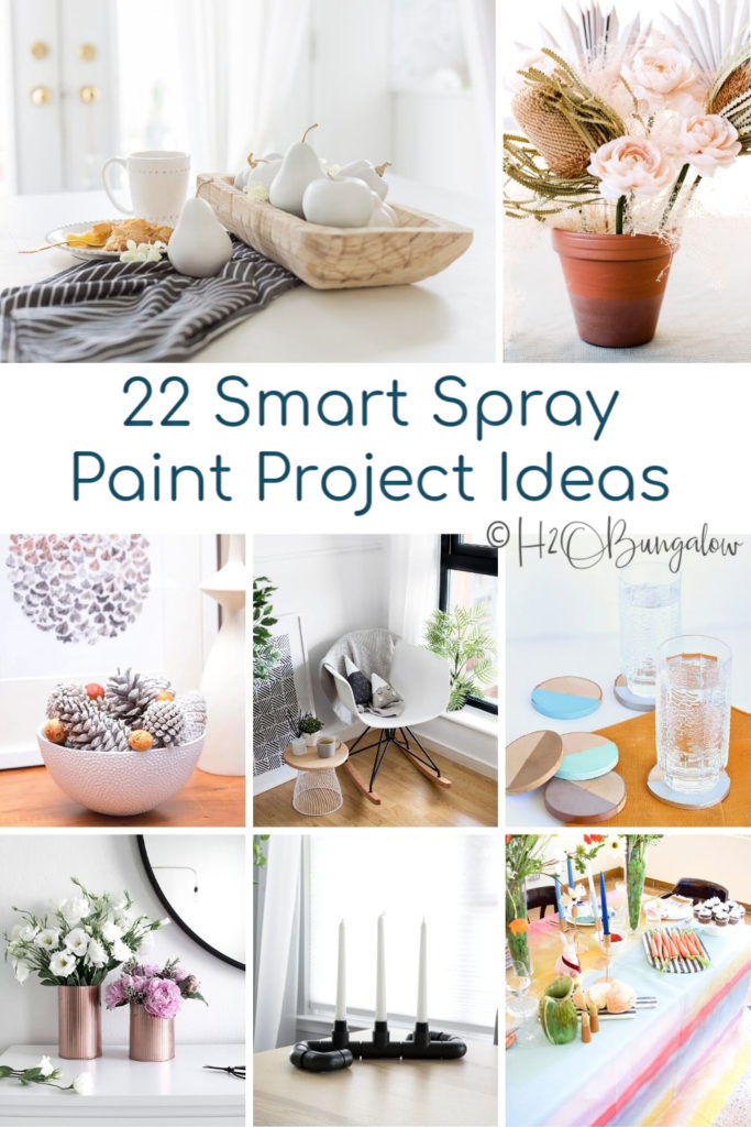 22 genius spray paint project ideas. Spray paint furniture, metals, home decor and more. I've added my favorite tools and tips for using spray paint. #spraypaint #paintprojects #easyDIY