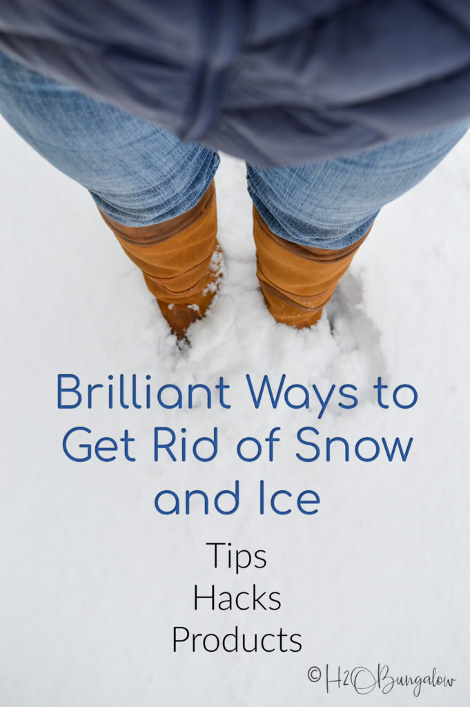 pin image briliiant ways to get rid of snow and ice