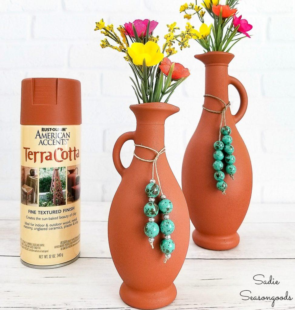 painted terra cotta vases