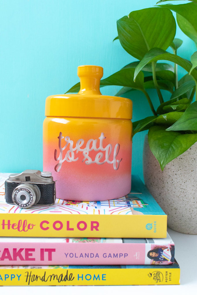 painted treat jar